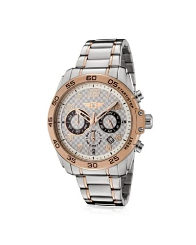 I by Invicta Men's 90187-002 Grey/Rose Checkerboard Stainless Steel Watch