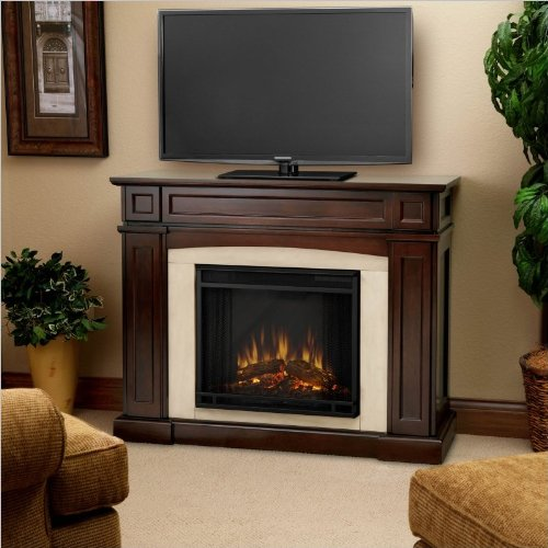 Real Flame Rutherford Electric Fireplace - Dark Mahogany photo B006MZDCES.jpg