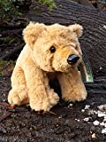 "Cute 7"" Plush Toy Grizzly Bear - Adorable Small Stuffed Brown Bear"