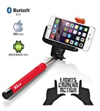 XTRA Selfie Stick Pro with Built-in Bluetooth Remote Button on the Handle for Smart Clicks Apple & Android Devices