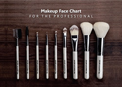Face Charts For Makeup Artists Bridal Makeup Book Elanoir (M16 Brush compare prices)