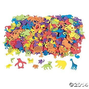 500 Foam Self-Adhesive Animal Shapes