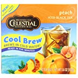 Celestial Seasonings Ice Cool Brew Iced Tea, Peach, 40-Count Tea Bags (Pack of 6)