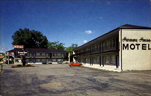 Harmony House Motel, 615 E. Michigan Ave Ypsilanti Original Vintage Postcard
