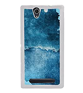 Abstract Blue Pattern 2D Hard Polycarbonate Designer Back Case Cover for Sony Xperia C3 Dual :: Sony Xperia C3 Dual D2502