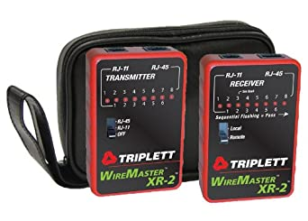 Triplett WireMaster XR-2 3254 LAN Cable Test Set with Tracer Tone and Carrying Case