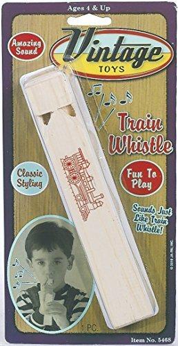 Vintage Toys Wooden Train Whistle