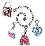 CHARM IT! Disney Princess Cinderella Castle & Glass Slipper Charms & Bracelet Pouch Set