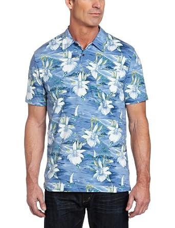 cubavera men 39 s printed hawaiian polo shirt at amazon men s