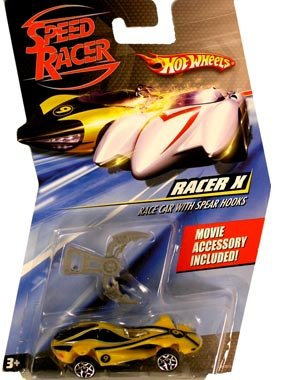 Speed Racer 1:64 Die Cast Hot Wheels Car Racer X Race Car with Spear Hooks