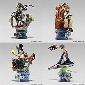 Kingdom Hearts II: Formation Arts Box Set of 4 Trading Figures (Final Form Sora / Roxas / Riku / King Mickey KHII Version)