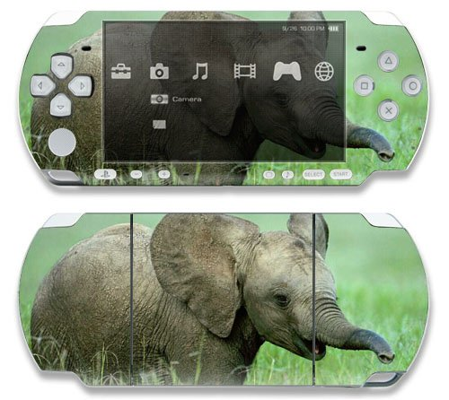 Baby Elephant Decorative Protector Skin Decal Sticker for Sony Playstation PSP 1000 Portable System