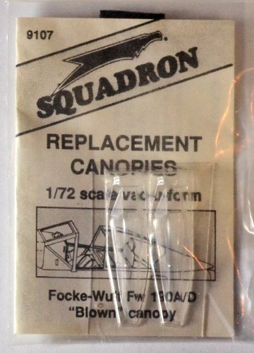 "Squadron Products Focke-Wulf FW 190A/D ""Blown"" Vacuform Canopy"