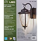 Altair Energy Saving LED Lantern - Oil Rubbed Bronze Finish Clear Hammered Glass