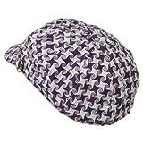 Star Newsboy Hat - Purple W16S69E