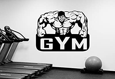 Gym Emblem Wall Decal Vinyl Window Sticker Sports Art Decorations Fitness Bodybuilding Crossfit Center Studio Decor Ideas fgm28