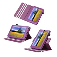 Poetic Dura Book Leather Case For The Google Nexus 7 Android Tablet By Asus Purple (Automatically Wakes And Puts...