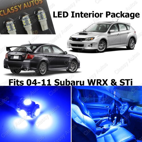 Blue Led Lights Interior Package For Subaru Wrx Sti (6 Pieces)