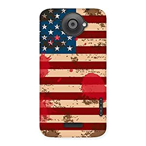 Cute Grunge USA Flag Multicolor Back Case Cover for HTC One X