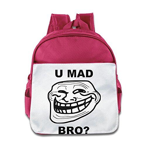 XJBD Custom Funny U Mad Bro Teenager School Backpack For 1 ...