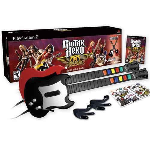 Playstation 2 Guitar Hero Limited Edition Bundle~Aerosmith