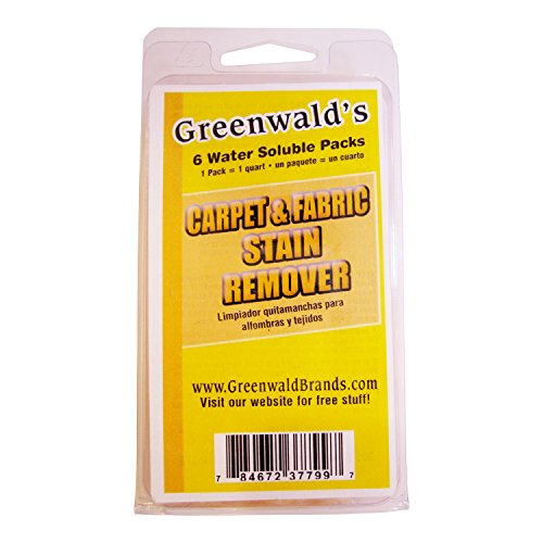 Greenwald's Carpet, Upholstery & Fabric Stain Remover – Easy Refills Make 6 32-oz Spray Bottles – 100% Satisfaction Guarantee