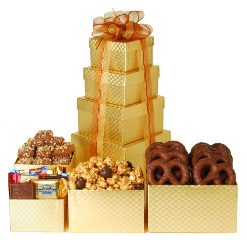 Wine.com Chocolate Gold Mine Gift Tower