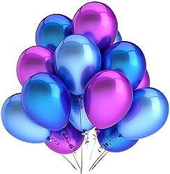 Catterpillar Metallic HD Balloons (Blue & Magenta)(Pack of 50)