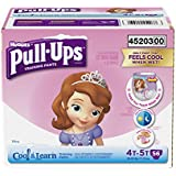 Pull-Ups Cool and Learn Training Pants for Girls,Size 4T-5T, 56 Count