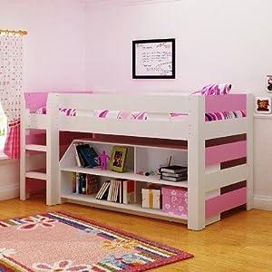 Lollipop Mid Sleeper Bed Finish: White / Pink