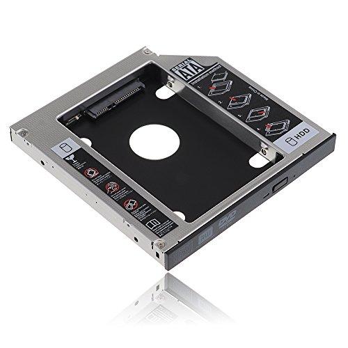 """VicTsing SATA 2nd 2.5"""" HDD HD Hard Drive Caddy Unità per 12,7 millimetri Universale CD / DVD-ROM Bay Ottico Compatibile con HP Compaq, Elite-Libro, Pro-libro, Dell Studio, Acer Aspire 4540, Lenovo Thinkpad T420, Sony, ASUS ecc."""