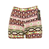 Colorful South-western Print Legging Shorts Everyday- One Size