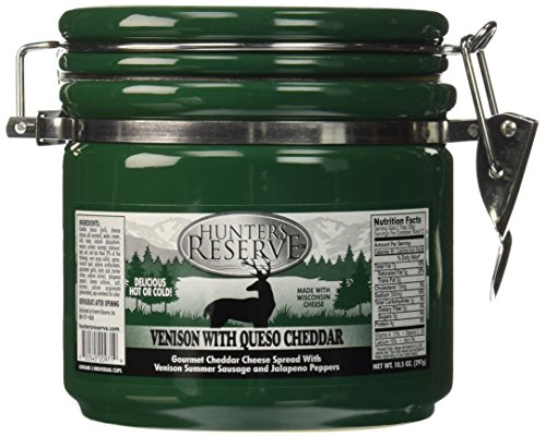 Hunters Reserve 10.5 oz. Gourmet Cheddar Cheese Spread with Venison Summer Sausage Morsels & Jalapeno Peppers (Cheese Spread Crock compare prices)