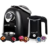 CBTL Kaldi 9910 Single-Cup Brewer with Espresso, Coffee, Tea and Milk Frother Bundle, Black Best Deals