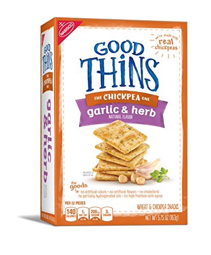 Good Thins Chickpea Crackers (Garlic & Herb, 5.75-Ounce Box), (Pack of 6) (Global Goods compare prices)