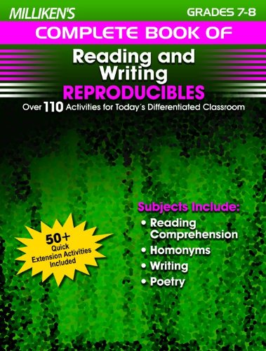 Millilken's Complete Book of Reading & Writing Reproducibles - Grades 7-8 (Milliken Publishing Company compare prices)