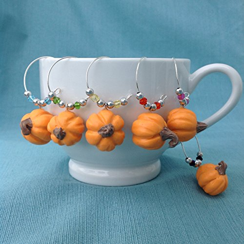 Pumpkin Wine Glass Charms