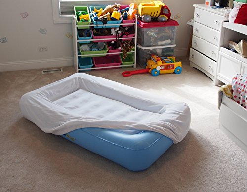 Lazynap Lz-04K Kids Air Mattress With Wrap-Around Bumpers, Soft Cover (Includes Hand-Held A/C Electric Pump)