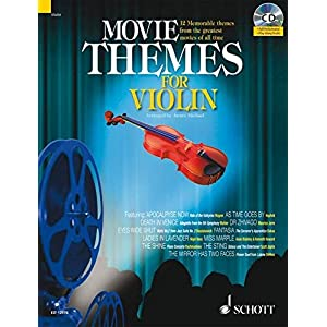 Movie Themes for Violin: 12 unvergessliche Melodien aus den größten Filmen aller Zeiten. Violine. Ausgabe mit CD.: 12 Memorable Themes from the ...