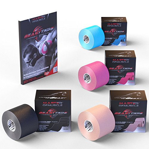 Kinesiology Tape Black - Bonus Ebook With Latest Strapping and Taping Applications...