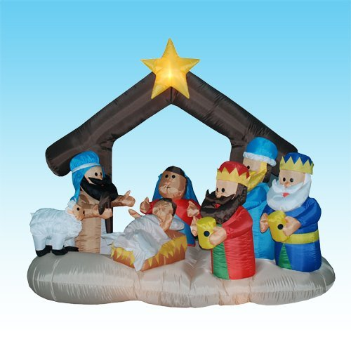 Inflatable Nativity Scene front-530838