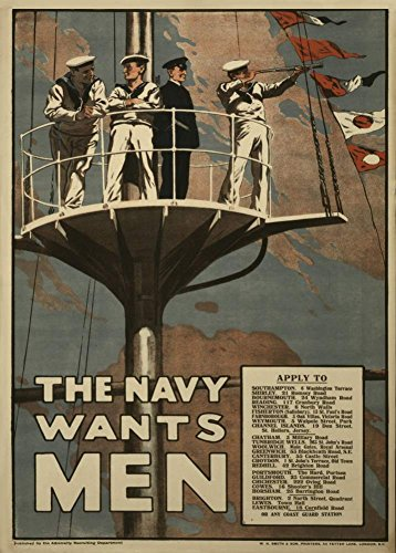 world-of-art-vintage-britisches-propagandaposter-1-weltkrieg-1914-18-the-navy-wants-men-a3-250-g-m-g
