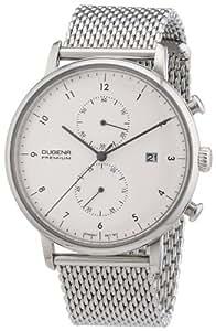 Dugena Herren-Armbanduhr XL Premium Dessau Chronograph Quarz Edelstahl 7000035