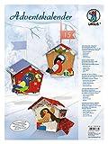 Ursus 17820002 - Adventskalender Vögelchen, Bastelset für 24 Geschenkboxen, bunt