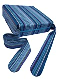 Pomfitis Sitata High Chair Portable Baby Cushion Booster Seat Pad with Cover Blue Stripes