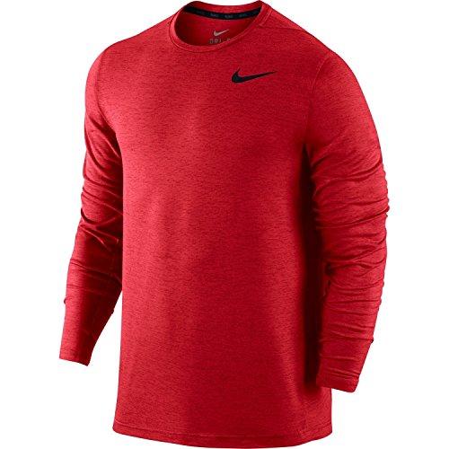 Nike Men's Long Sleeve Legend Dri Fit Tee (University Red, X-Large)
