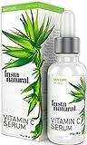 InstaNatural Vitamin C Serum - Bestes flüssiges Antialterungs-Serum fürs Gesicht - Vermindert Falten, Hyperpigmentation und Sonnenflecken - Enthält reines Vitamin C und Hyaluronsäure - Mit organischem Argan- und Hagebuttenöl, Vitamin E, Ferulasaeure und Sanddornoel - 30ml