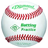 Diamond DBP Batting Practice Baseball (White, One Dozen) by Diamond Sports