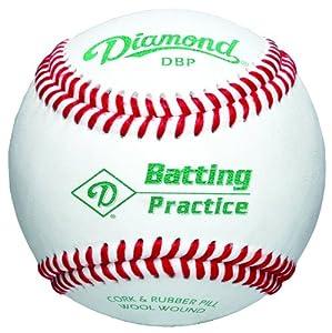 Buy Diamond DBP Batting Practice Baseball (White, One Dozen) by Diamond Sports
