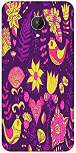 Snoogg Seamless Texture With Flowers Designer Protective Back Case Cover For Micromax Canvas Spark Q380